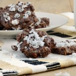 no bake chocolate oatmeal cookies with milk on plate