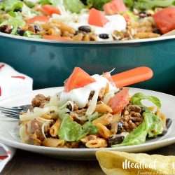 one pot easy taco pasta dinner recipe