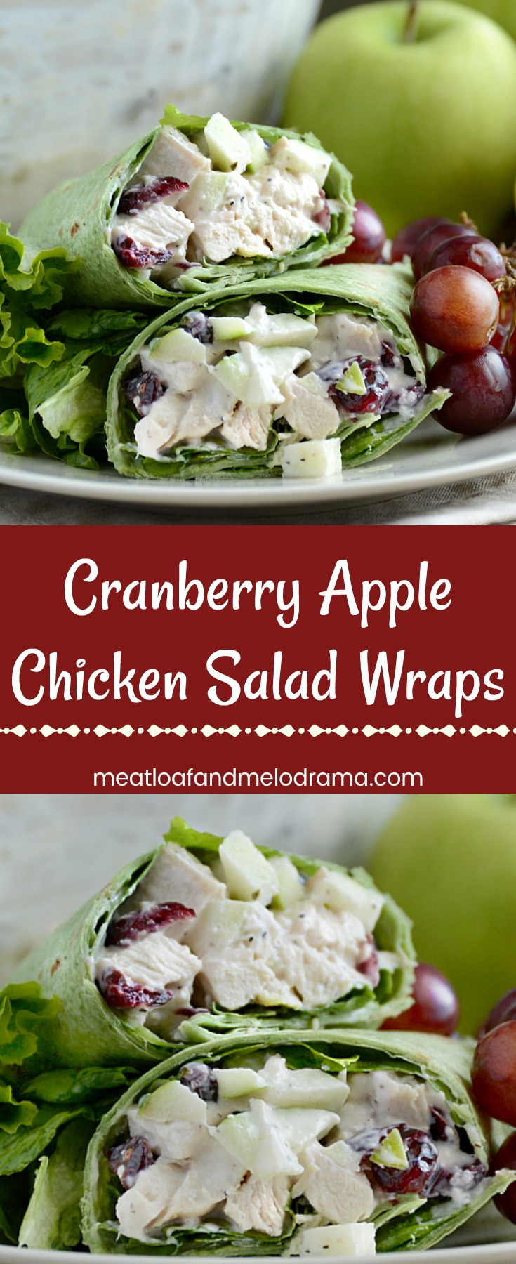 Cranberry Apple Chicken Salad Wraps