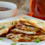 BBQ Ham and Provolone Cheese Quesadillas