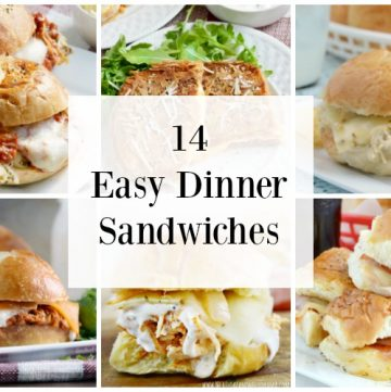 14 easy dinner sandwiches for busy days