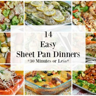 14 easy sheet pan dinners cooked in one pan for easy clean up collage