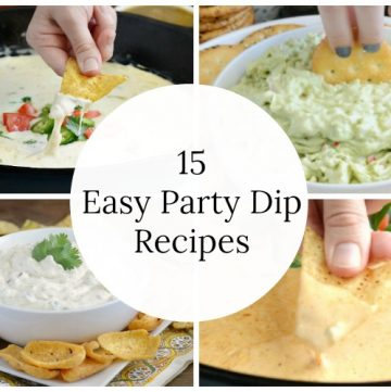 15 easy party dip recipes wide collage