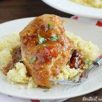 skillet glazed apricot chicken over couscous