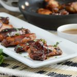 sticky pineapple teriyaki chicken wings on platter reicpe