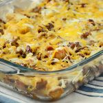 Make Ahead Sausage Sourdough Breakfast Casserole