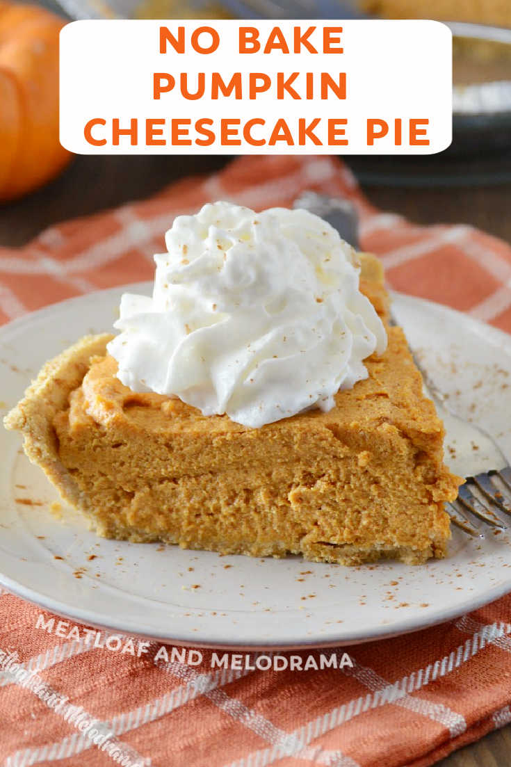 This easy No-Bake Pumpkin Cheesecake Pie is sweet, fluffy and lighter than traditional pumpkin pie. A new favorite Thanksgiving dessert!