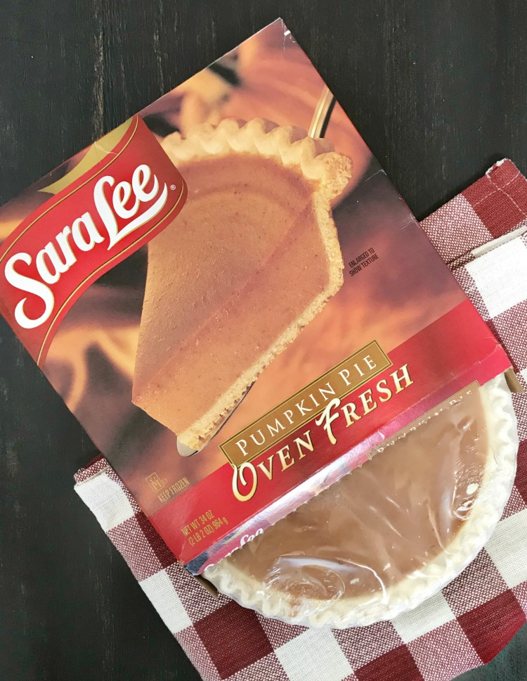 sara lee frozen pumpkin pie in box