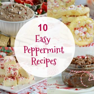 10 easy peppermint recipes for christmas collage