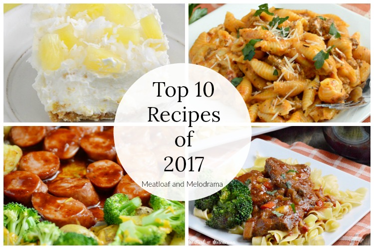 top 10 recipe posts of 2017 collage