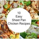 collage for 10 easy sheet pan chicken recipes