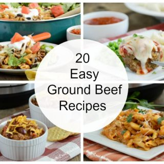 20 easy ground beef recipes collage