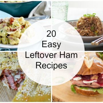 collage of easy leftover ham recipes