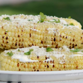 instant pot mexican street corn on platter
