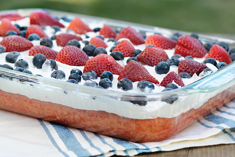 Red White And Blue Poke Cake Meatloaf And Melodrama