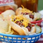 cheeseburger hot dogs topped with ground beef and cheddar cheese