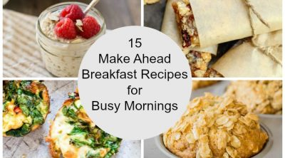 collage of make ahead grab and go breakfast foods