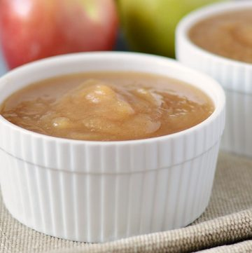 instant pot applesauce in white bowls