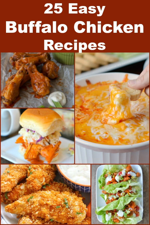 25 recipes using buffalo sauce and chicken