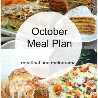 October Monthly Meal Plan