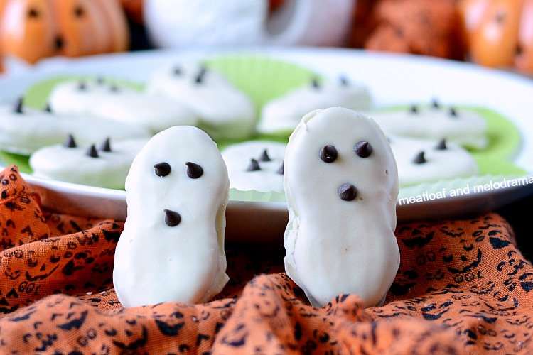 no bake easy Halloween ghost cookies