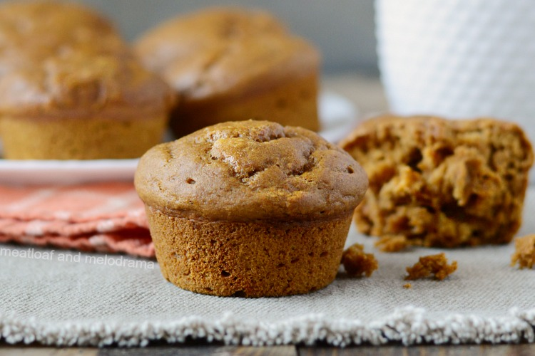 the best easy pumpkin muffins on a plate