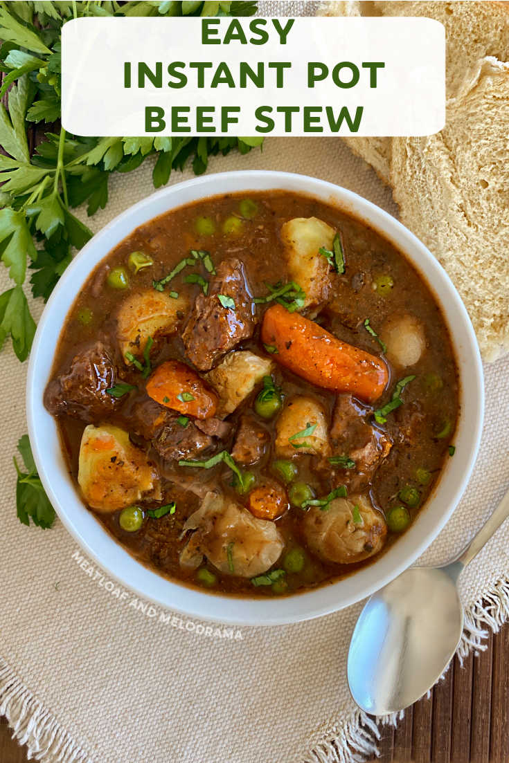 Easiest Instant Pot Beef Stew Meatloaf And Melodrama