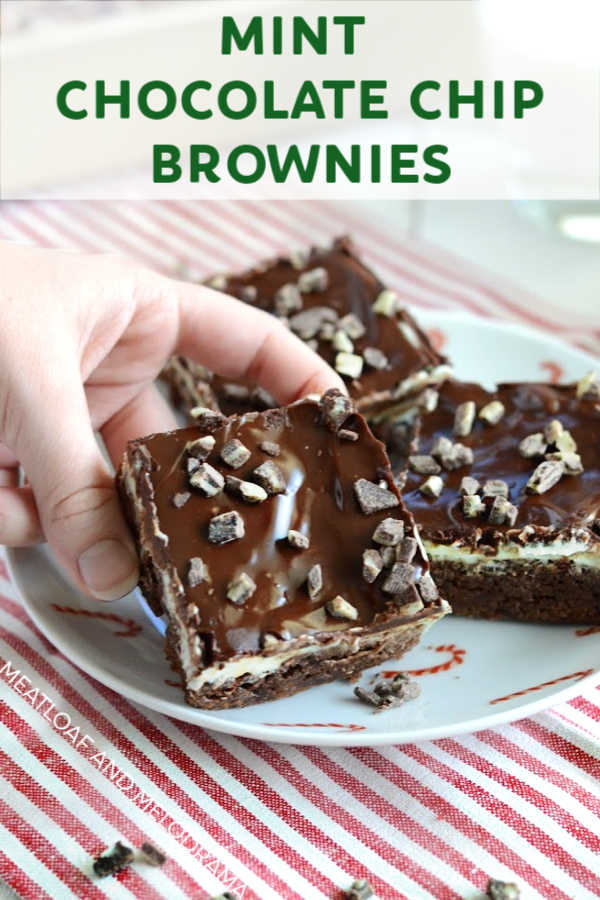 Mint Chocolate Chip Brownies from scratch
