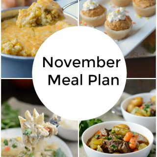 November Monthly Meal Plan