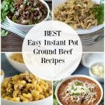 easy instant pot ground beef recipes collage