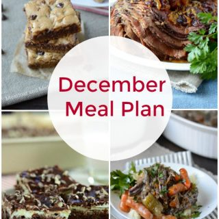 December Meal Plan collage