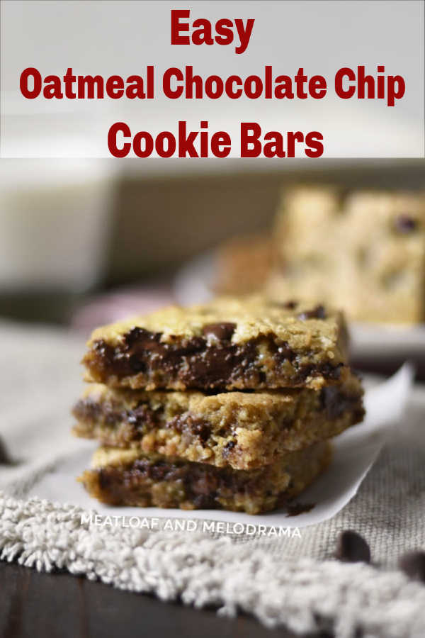 Easy Oatmeal Chocolate Chip Cookie Bars