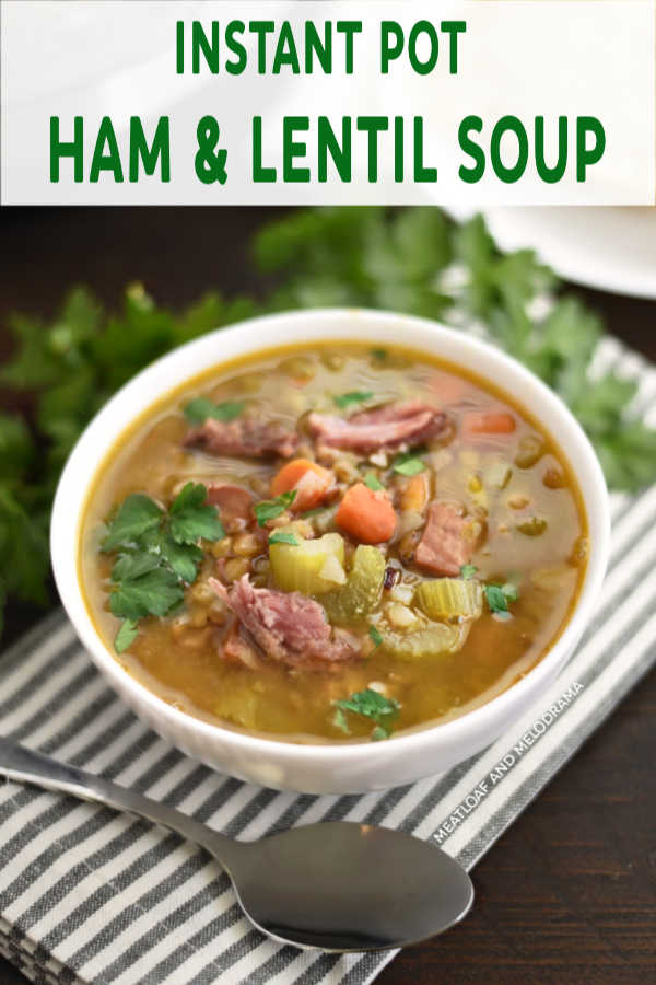 Instant Pot Ham and Lentil Soup bowl