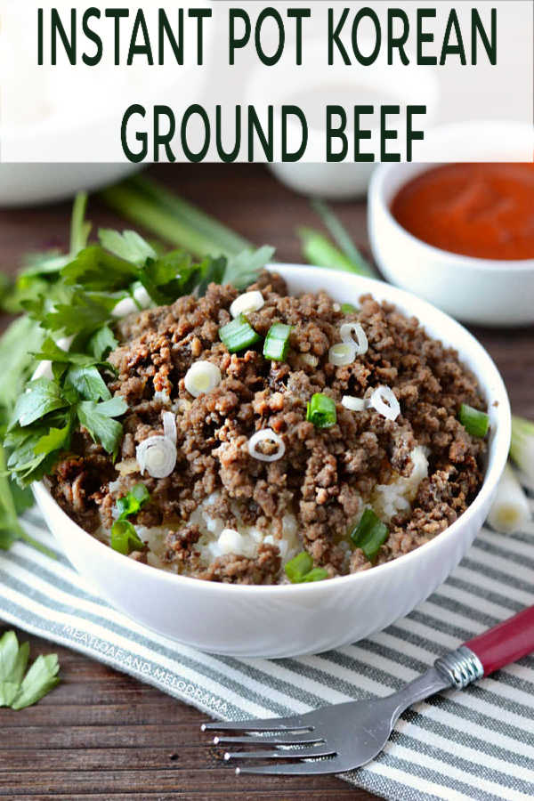 Instant Pot Korean Ground Beef Recipe with rice