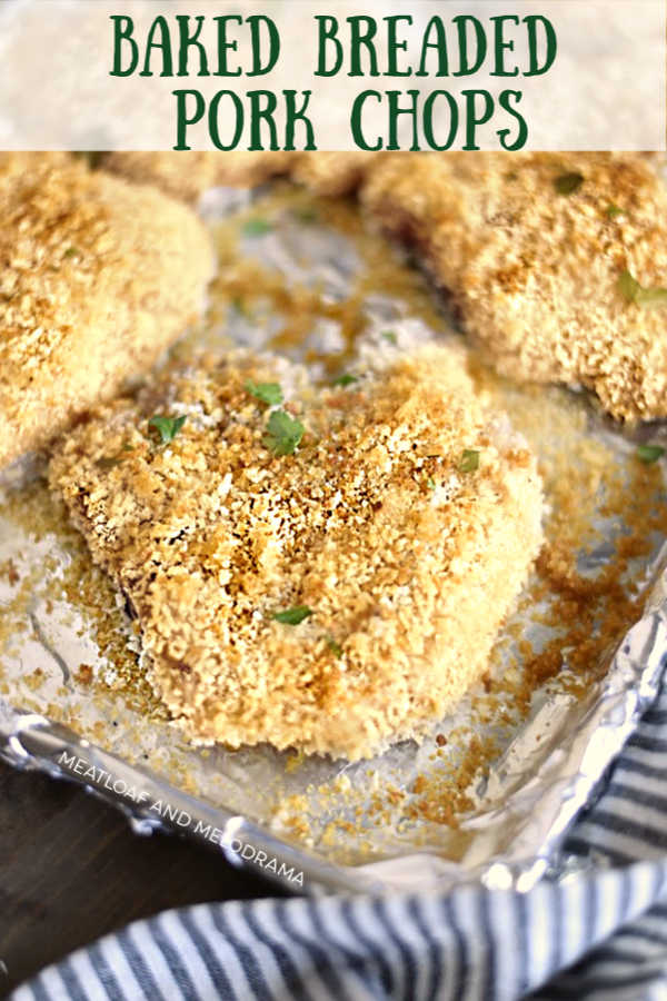 Baked Breaded Pork Chops recipe with panko