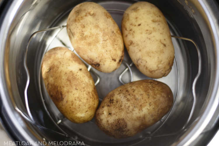 4 small russet potatoes in instant pot