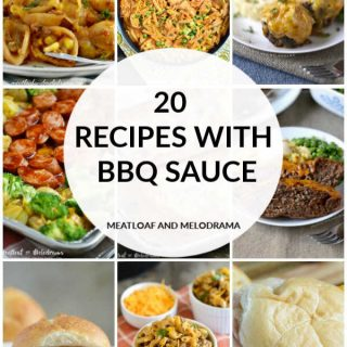collage of recipes using bbq sauce