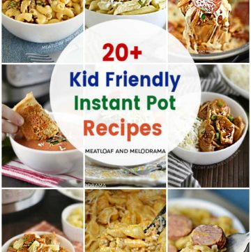 collage of kid friendly instant pot recipes