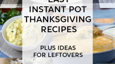 collage of instant pot thanksgiving recipes