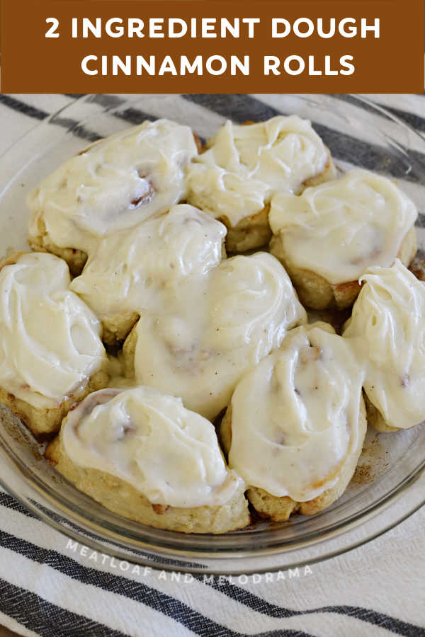 plate of frosted cinnamon rolls
