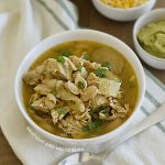 pork chili verde in white bowl
