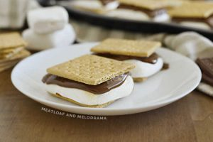 baked smores on plate