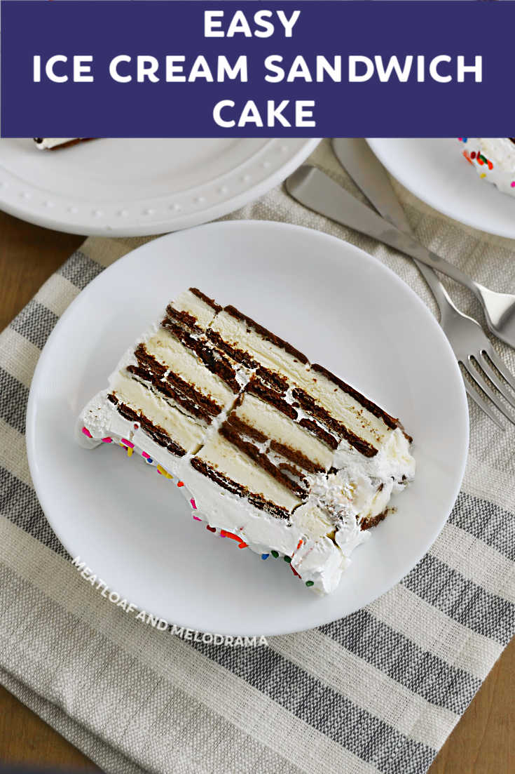 ce Cream Sandwich Cake is a super easy no bake dessert that's perfect for summer. All you need are 3 ingredients to make this delicious make ahead frozen dessert!