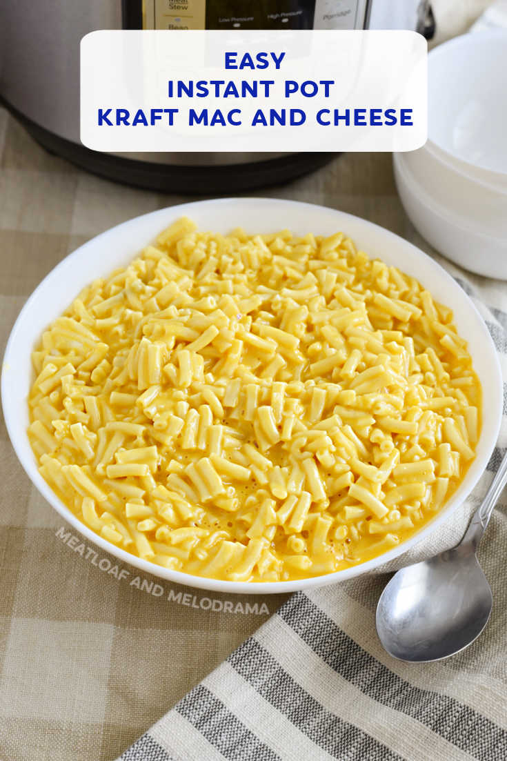 Make Instant Pot Kraft Mac and Cheese in your pressure cooker in just a few minutes with this easy recipe using your favorite boxed macaroni and cheese.