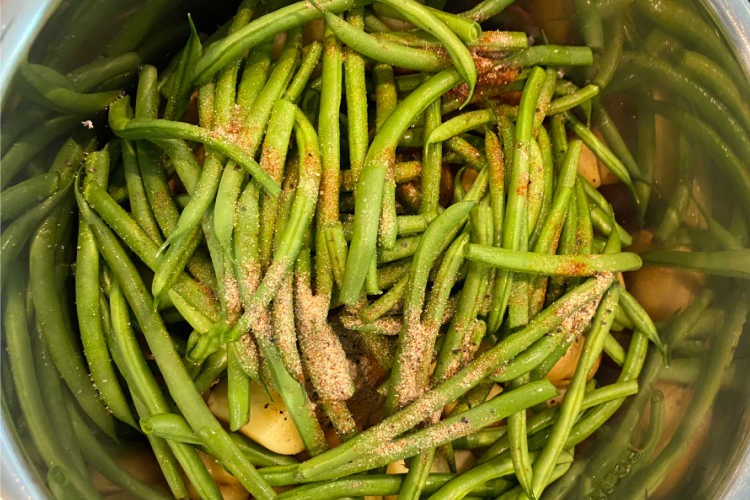 fresh green beans in the instant pot