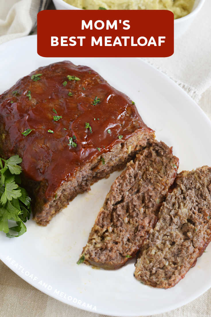 Mom's Best Meatloaf Recipe is a classic dinner made with ground beef, onion soup mix and a simple ketchup glaze. Flavorful and delicious!