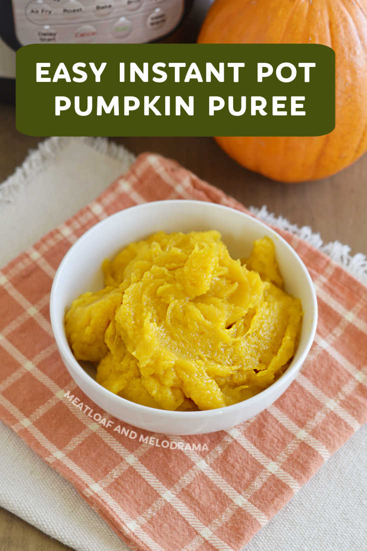 Make homemade Instant Pot Pumpkin Puree from a sugar pumpkin in less than an hour with this easy pressure cooker recipe. Perfect for pies, bread, cookies, soup or in any recipe that calls for cooked pumpkin.