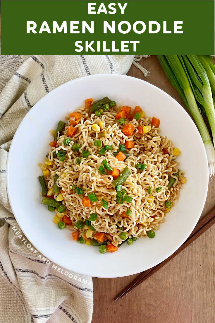 Easy Ramen Stir Fry is a quick and easy recipe with noodles and vegetables in a delicious homemade sauce. Ready in 10 minutes!